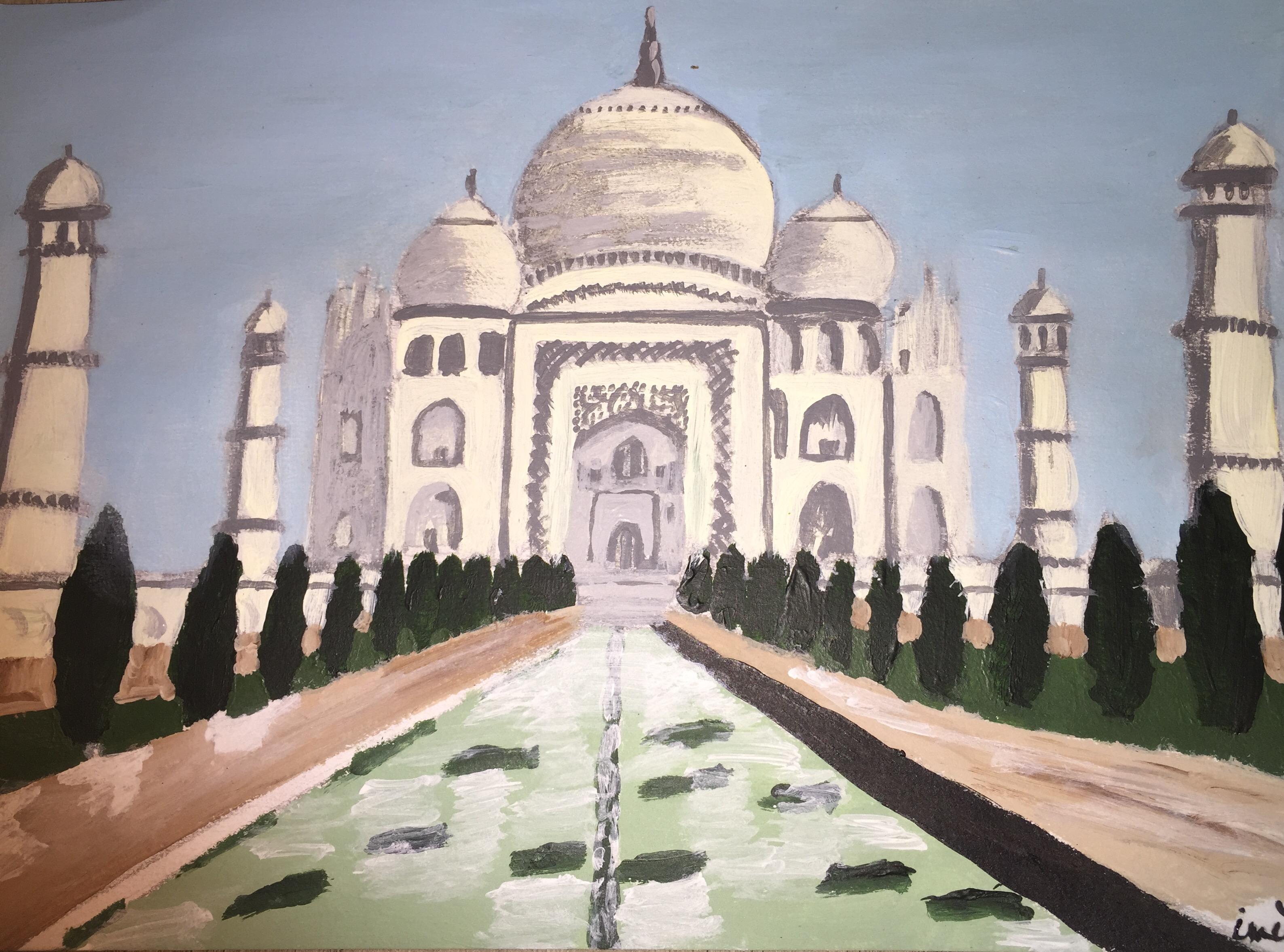 Magnifique palais oriental hindou Image