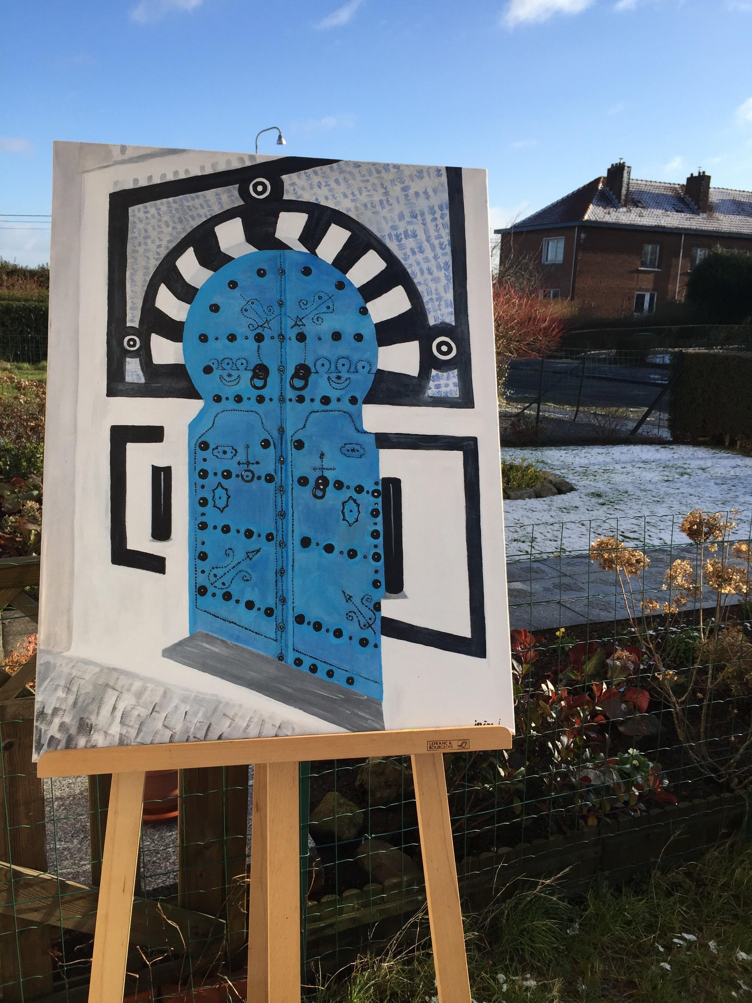 Porte bleu de Sidi-Bou Image
