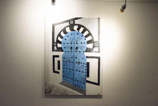 Tableau | Old door of Sidi-Bou-Said