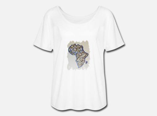 T-Shirt FEMME à manches chauve-souris design Africa